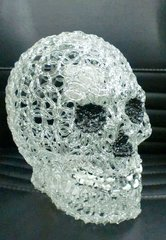 "AIE 9.5"" ACRYLIC SKELETON HEAD W/ LED LIGHT"