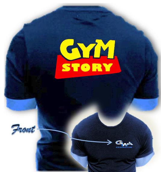 Gym with Attitude Mens NO PAIN NO GAIN reversal T-shirt ...