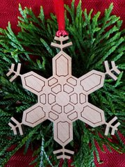 Geometric Snowflake Christmas ornament