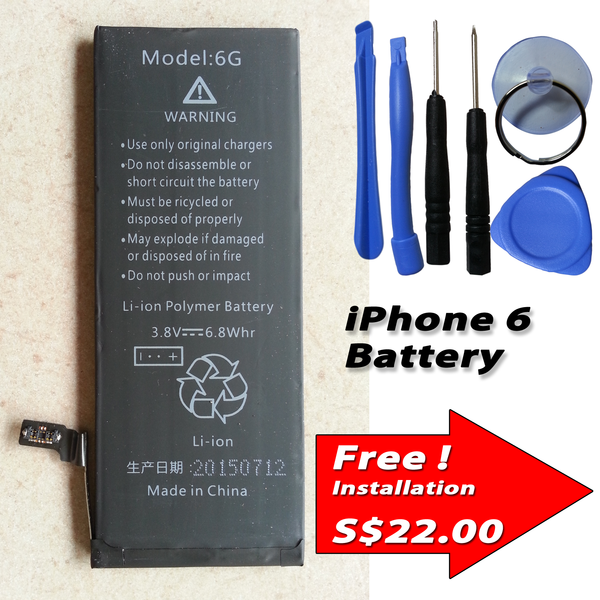apple iphone 6 internal battery capacity 1800mah tools kits samsung galaxy s2 s3 s4 s5 note. Black Bedroom Furniture Sets. Home Design Ideas