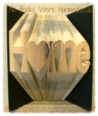 """H♥me"" Home with love heart 'o' : : New home, moving present, book art : : Home is where the heart is book art ♥"
