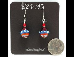 Fiesta Drop Glass Earrings by Heidi Klepper
