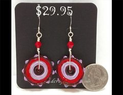 Fandangle Glass Earrings by Heidi Klepper