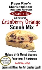 Papa Ray's Cranberry Orange Scone Mix