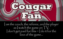 Cougar Coach Ultimate Fan Sport Board