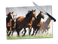 Horse Tempered Glass Cutting Board