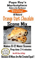 Papa Ray's Orange Dark Chocolate Scone Mix