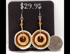 Butterscotch Taffy Glass Earrings by Heidi Klepper