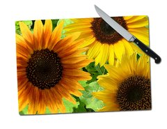 Sunflower Tempered Glass Cutting Board