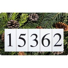 Pinecones Address Board Large