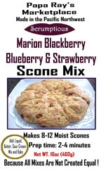 Papa Ray's Marion Blackberry Blueberry and Strawberry Scone Mix