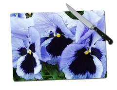 Pansy Tempered Glass Cutting Board