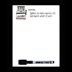 Casino Dry Erase Magnetic Message Board