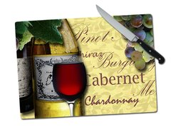 Wine Tempered Glass Cutting Board