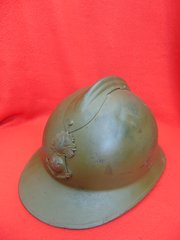 RARE French Colonial infantry soldiers M1926 Adrian helmet complete with liner found at Dunkirk