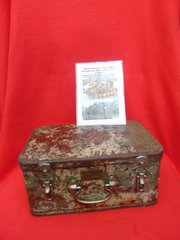German Panzer tank Draeger medical metal box dated 1938 with original markings found in Dunkirk