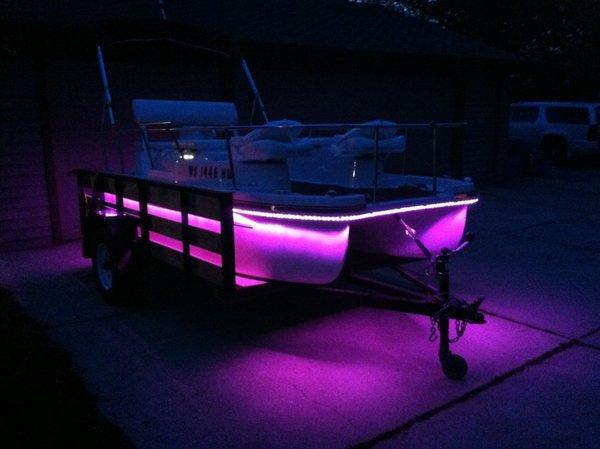 Supralite Ledz 26ft Pontoon Boat Kit Choose Color In