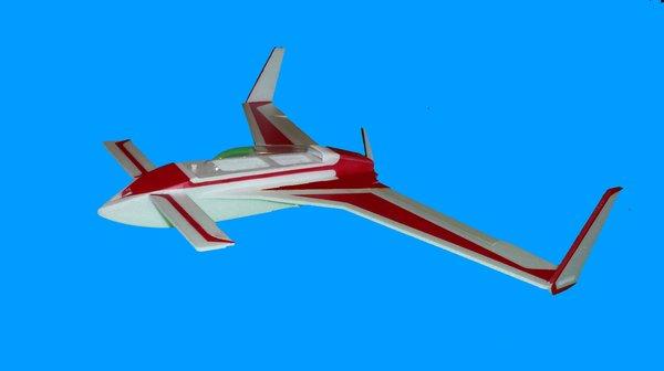 Long ez style foam rc airplane kit vertical climb rc