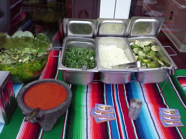 Taco Bar Services The Cross Out Price Is The Total Amount