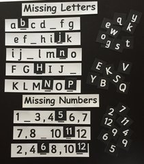Know Your Missing Letter & Missing Numbers