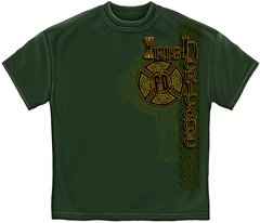 Irish Firefighter Gold Cross T-Shirt