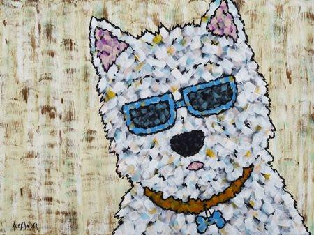 Gotta Wear Shades Westie by Angela Alexander | Angela Alexander Art ...