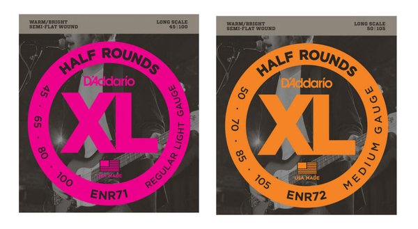 d 39 addario half rounds semi flat wound xl bass strings guitar stop guitar store music lessons. Black Bedroom Furniture Sets. Home Design Ideas