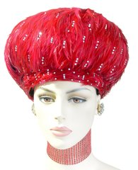 903 F 2015 Red all feather hat
