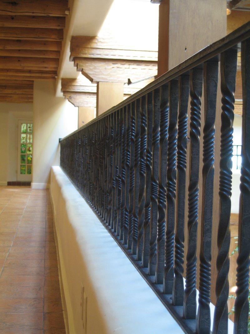 Custom ironwork harmony forge llc harmony forge santa for Mezzanine guard rail
