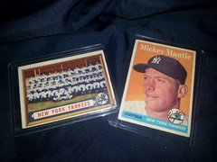 1950's Mickey Mantle and The New York Yankees Topps Baseball Cards in Mint Condition