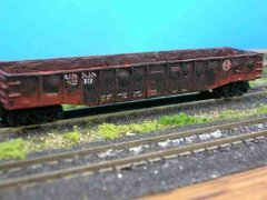 N Scale 50' Steel RR Gondola - Union RR