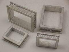 N Scale Small Square Foundry Mold Flasks