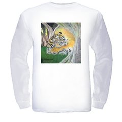 Enchanted Forest Print on Long Sleeve Cotton T-Shirt