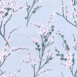 Blossom silver hollies haberdashery for Nebula fabric uk