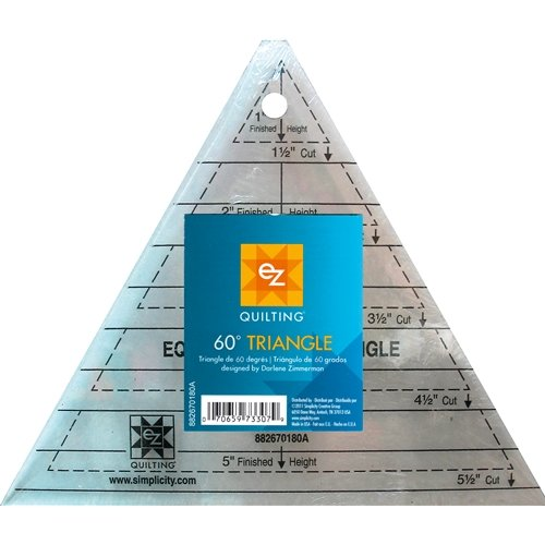 60 degree triangle acrylic ruler hollies haberdashery