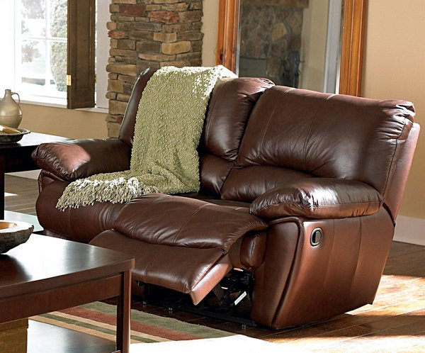 600281 Motion Sofa Top Grain Leather Match Dark Brown Discount Furniture Yard Don 39 T Pay