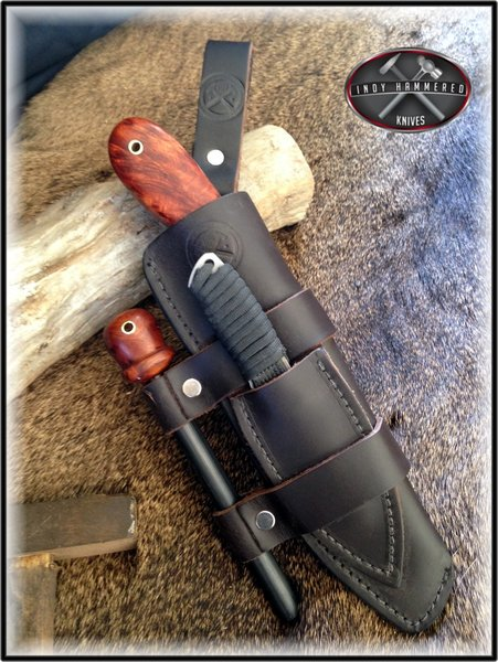 Neck Knife by IHK   Indy Hammered Knives - Hand Forged ...