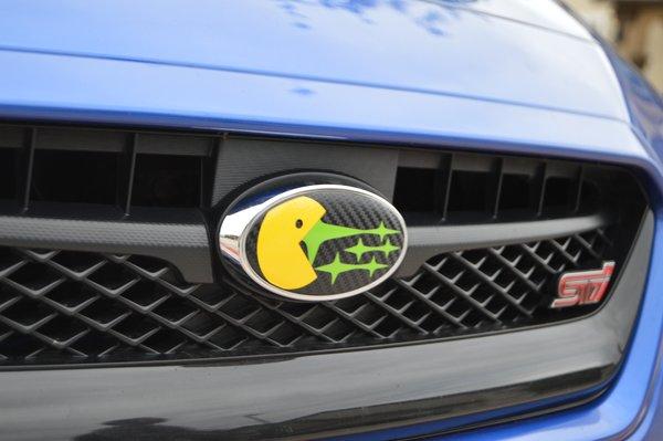 Pac Man Subaru Emblem Overlays Wrx Sti Legacy Pro Stickers