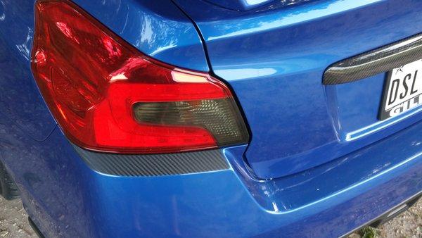 2015 Wrx Sti Rear Under Tail Light Overlays Pro Stickers