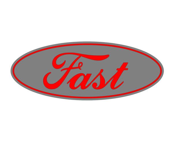 Ford Fast Emblem Overlay Set F 150 F 250 F 350 Focus St