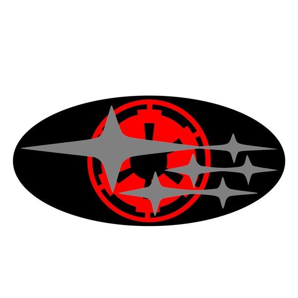 Star Wars Imperial Subaru Emblem Overlays Wrx Sti Legacy