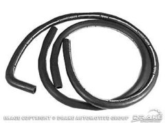 Heater Hose Set 1967 Mustang Shelby w/ AC White Stripe