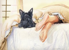 Scottie Feet - A Limited Edition Scottish Terrier Print