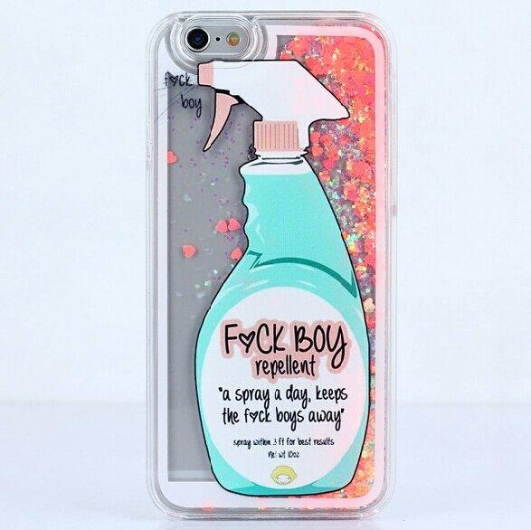 liquid glitter fuck boy repellent iPhone : my cute case