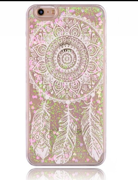 dream catcher liquid glitter iphone case my cute case