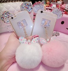 rainbow ears and pom case