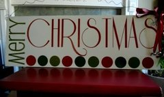 Merry Christmas Polka-Dots Sign - VINYL only
