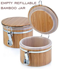 Bamboo Salt Keeper With Removable Liner 20oz