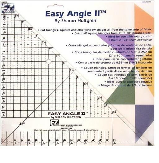 10 Easy Angle II Quilting Template Ruler Item 8021