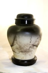 Black Lidded Urn
